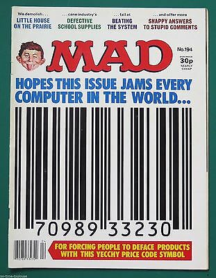 MAD Magazine Number 194. British Edition. 1977.