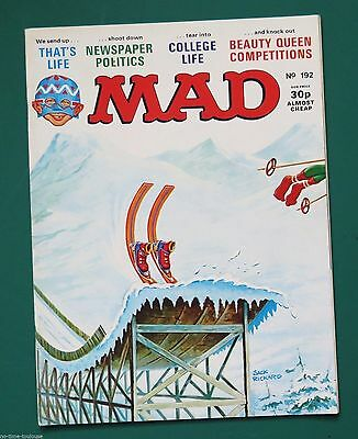 MAD Magazine Number 192. British Edition. 1977