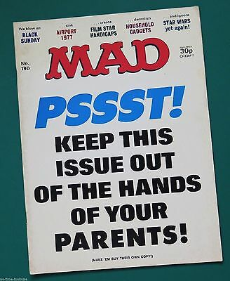 MAD Magazine Number 190. British Edition. 1977.