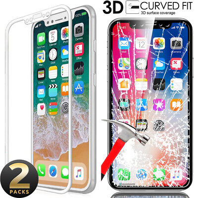 Premium Real Tempered Glass Screen Protector Film For iPhone X 8 7 6 6s Plus 5 s
