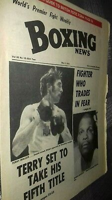 May 2Nd  1974  Boxing News Terry Waller / Bennie Briscoe