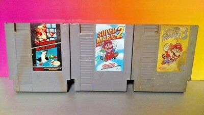 Super Mario Bros. 1 2 3 Trilogy GAME Lot  Nintendo NES Tested Authentic ORIGINAL