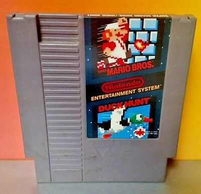 Super Mario Bros. / Duck Hunt - Nintendo NES Game Rare Tested  -  Authentic !