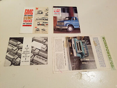 1966 Chevy or GMC Trucks Brochures and related material Lot of 5