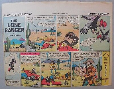 Lone Ranger Sunday Page by Fran Striker and Charles Flanders from 12/13/1942