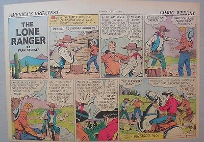 Lone Ranger Sunday Page by Fran Striker and Charles Flanders from 7/19/1942