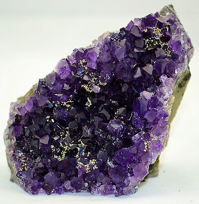 """Vibrant Violet AMETHYST Cathedral GEODE URUGUAY 3.2"""" Free Standing 80mm e2944x"""