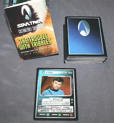 Star Trek Trouble with Tribbles CCG 1E Complete UR Bones 141 Cards Game Booklet