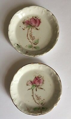 Antique Butter Pat Dishes ~ Set of 2 ~ Unmarked