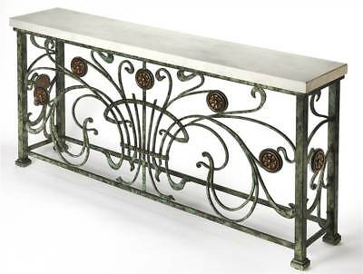 Ramona Stone Console Table in Metalworks Finish [ID 3760625]