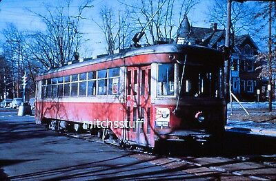 Lehigh Valley Transit Slide - Trolley #957 - 17th & Hamilton; Allentown, PA 1951