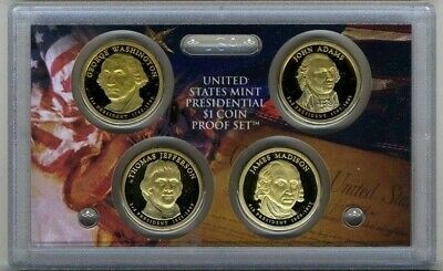 2007 S Presidential Dollar 4 Coin Gem Proof Set