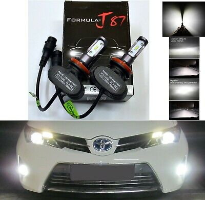 LED Kit N2 72W H9 6000K White Two Bulbs Head Light High Beam Replacement Upgrade