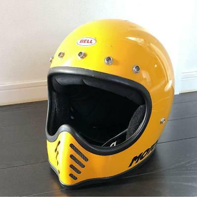Bell Moto 3 Helmet Motorcycle 58Cm Used Yellow Very Rare Collectible From Japan