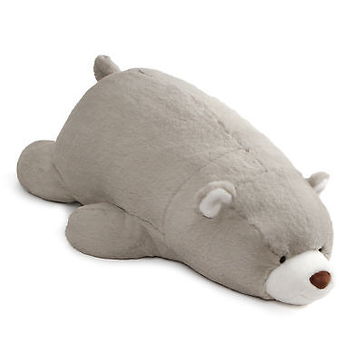 GUND Large Laying Down Snuffles Teddy Bear Plush Animal 27-in, Gray