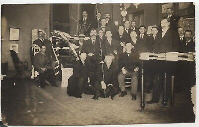 1890s Mansfield Ohio Richland County Courthouse Picture Photo Elected Men RARE