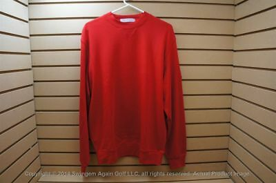 NWTags Men's Martin Longsleeve Golf Pullover Size Large Red with Logo