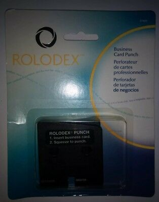 NEW Rolodex Business Card Punch 67699 VERY HARD TO FIND NEW IN PACK-RARE