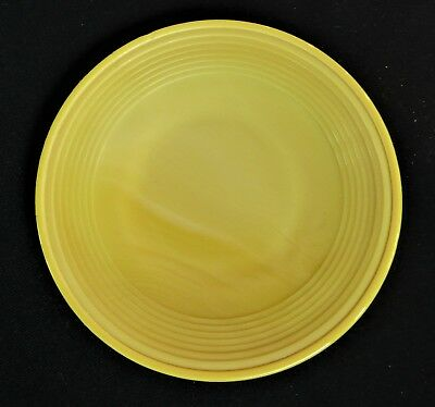 Akro Agate Small Concentric Ring/Stacked Disc Glass Yellow Plate(s)