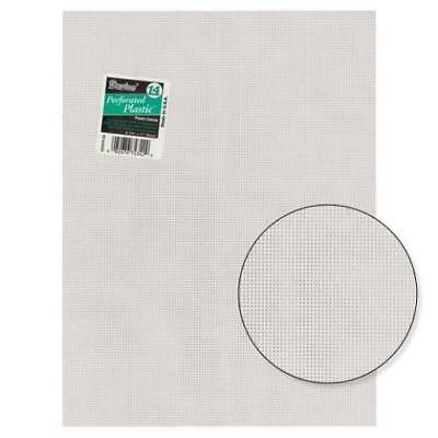 Plastic Canvas Sheets - By Darice - 14 Count Mesh - 33275 - 1 - Clear