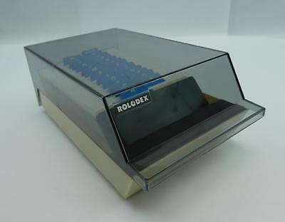 Vintage Rolodex Covered Card File VIP 24C with Alpha Tabs and 400+ Blank Cards