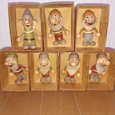 Snow White and the Seven Dwarfs Wooden Doll Figure Disney Young Epoch Japan rare