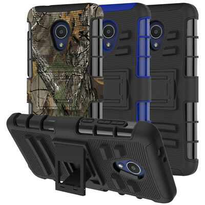 For Alcatel 1X Evolve Case Rugged Armor Hybrid Shockproof Kickstand Phone Cover