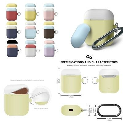 Strap Holder & Silicone Rubber Case Cover Skin For Apple Airpods Accessories