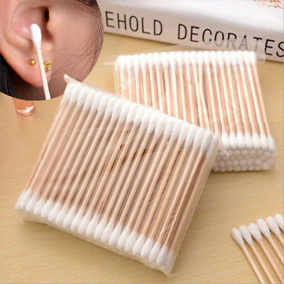 Medical Double Head Bamboo Cotton Buds Cotton Swabs Tips Wood Sticks Makeup Tool