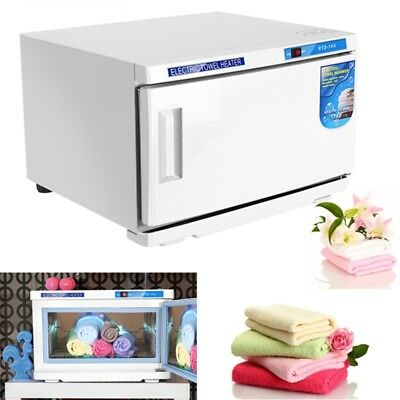 2 IN 1 16L UV Hot Facial Towel Cabinet Sterilizer Disinfection Warmer Salon Spa