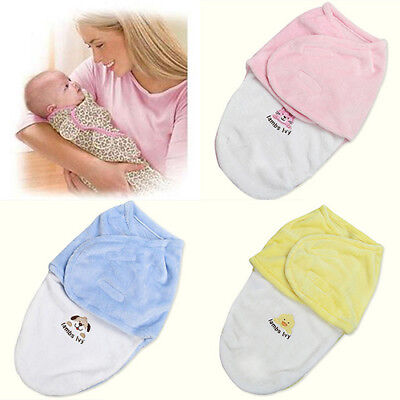 1Pc Cute Swaddle Soft Warm Newborn Blanket Fleece Sleeping Bag Baby Products