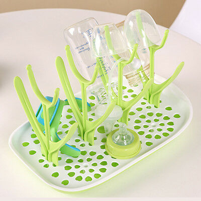 Cute Kitchen Dryer Baby Bottle Clean Drying Shelf Feeder Holder Infant Rack UK