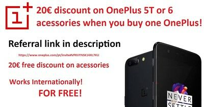 Oneplus 6 20€ Voucher code on buying Oneplus 5,6 or 6T  only on  Accessories!