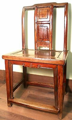 Antique Chinese Ming Chair (5796), Zelkova Wood, Circa 1800-1949