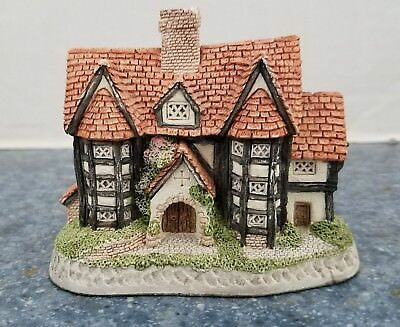 "David Winter Cottages  ""Shirehall"" 1985 Vintage Collectible - miniature"