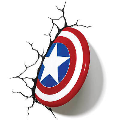 3D wall decor LED light from MARVEL Captain America Shield & Sticker Night lamp