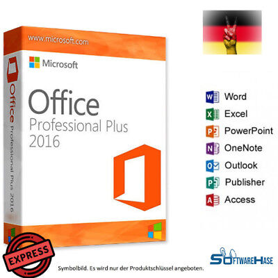 Microsoft Office Professional Plus 2016 Key + Download SOFORT Emailversand