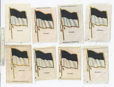 c1913 Lot of 11 PRUSSIA GERMANY S33 Silks NATIONAL FLAGS Cigarettes  Insert Old