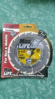 "Max Life 550C418 5-1/2"" x 18 Tooth Cordless Circular Saw Blade Carbide"