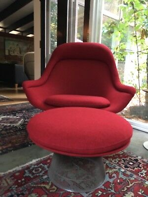 Orig KNOLL Large Throne Platner Chair/otto Red Wool Eames Mid Century $12,000msr