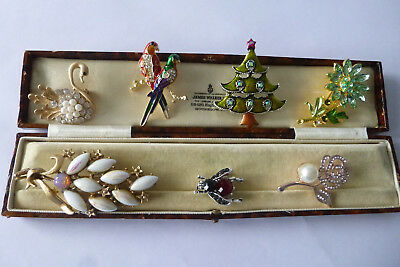 Vintage Jewellery A Fabulous Mixed Job Lot Of Brooches Pins Various Eras