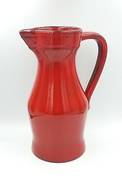 carafe rouge ELCHINGER FRANCE Céramique faience porcelaine pichet vase