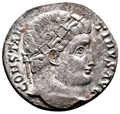 CONSTANTINE THE GREAT (334 AD) Silvered Follis, Antioch #IU 941