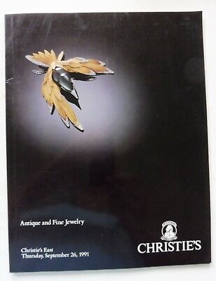 "Christies New York Auction Catalog ""Antique and Fine Jewels"" 9/26/91 Great Shape"