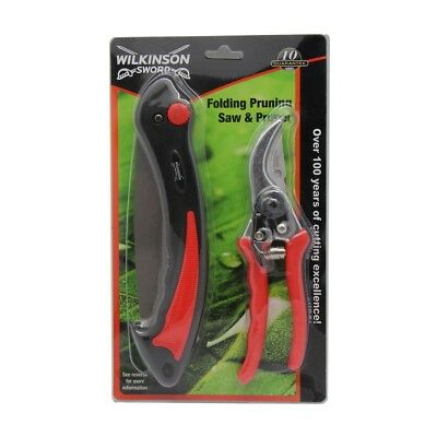 Wilkinson Sword Folding Pruning Saw & Pruner / Secateurs 1111295WG