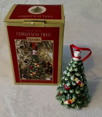 Spode LED Christmas Tree Ornament, Tree with Santa NIB
