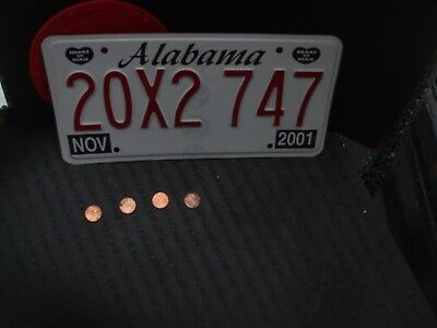 """2001 ALABAMA LICENSE PLATE  (20X2 747).....""""HEART OF DIXIE"""" ..good condition"""