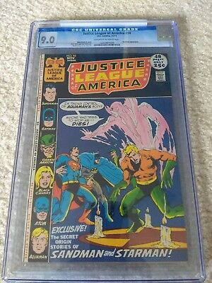 Justice League of America #94 CGC 9.0 OW/W 1st Merlyn Neal Adams Sandman Starman