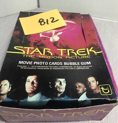 STAR TREK THE MOTION PICTURE 1979 TRADING SET 200+ CARDS STICKERS display box