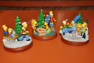 The SIMPSONS BRADFORD ILLUMINATED CHRISTMAS ORNAMENTS-6TH EDITION=UNOPENED MINT!